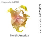 north america map in geometric... | Shutterstock .eps vector #460750324