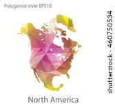 north america map in geometric... | Shutterstock .eps vector #460750534