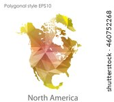 north america map in geometric... | Shutterstock .eps vector #460752268