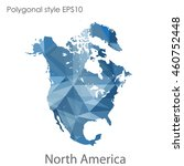 north america map in geometric... | Shutterstock .eps vector #460752448