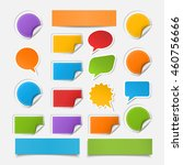 vector set realistic colorful... | Shutterstock .eps vector #460756666