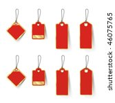 red sale tags | Shutterstock .eps vector #46075765
