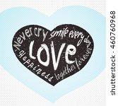 grunge vector heart. typography ... | Shutterstock .eps vector #460760968