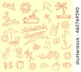 summer element in doodle style | Shutterstock .eps vector #460769590