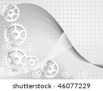 gray background with the gears. ... | Shutterstock .eps vector #46077229