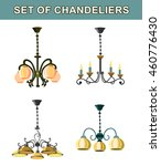 set of chandeliers | Shutterstock .eps vector #460776430