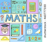 maths hand drawn colorful... | Shutterstock .eps vector #460777330