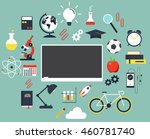 back to school flat design ... | Shutterstock .eps vector #460781740