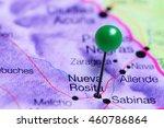 Nueva Rosita Pinned On A Map O...