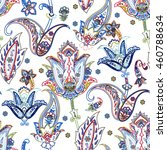 colorful paisley pattern.... | Shutterstock .eps vector #460788634