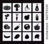 vector food icon with healthy... | Shutterstock .eps vector #460793134