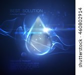 collagen serum droplet with... | Shutterstock .eps vector #460802914