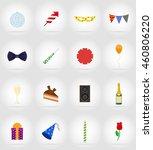 celebrations set flat icons... | Shutterstock .eps vector #460806220