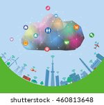 cps cyber physical system ... | Shutterstock .eps vector #460813648