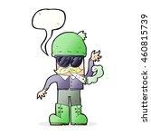 cartoon man smoking pot with... | Shutterstock . vector #460815739
