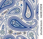 seamless paisley background.... | Shutterstock .eps vector #460819858