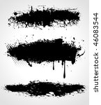 three  vector grunge banners on ... | Shutterstock .eps vector #46083544
