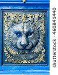 lion stuccowork in temple | Shutterstock . vector #460841440