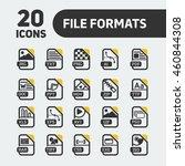 web icon set. file formats