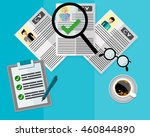 hr manager or employer is... | Shutterstock .eps vector #460844890