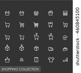 dark grey shopping line icon... | Shutterstock .eps vector #460845100