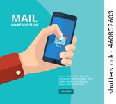 vector illustration of hand... | Shutterstock .eps vector #460852603