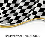 checkered flag  vector... | Shutterstock .eps vector #46085368
