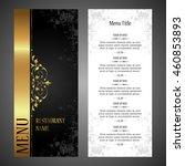 restaurant menu design | Shutterstock .eps vector #460853893