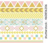 vector tribal aztec seamless...   Shutterstock .eps vector #460856206