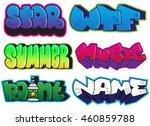 graffiti set. summer  star  wtf ... | Shutterstock .eps vector #460859788