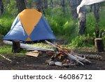 alaska campsite | Shutterstock . vector #46086712