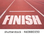 finish line on asphalt.... | Shutterstock . vector #460880350