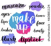 colorful makeup cosmetic... | Shutterstock .eps vector #460881124