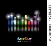 colorful graphic equalizer... | Shutterstock .eps vector #460881859