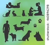 vector silhouettes of animals... | Shutterstock .eps vector #460896298