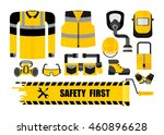 set of work wear and safety... | Shutterstock .eps vector #460896628