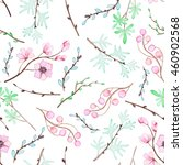 seamless romantic pattern with... | Shutterstock . vector #460902568