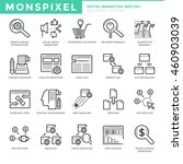 flat thin line icons set of...