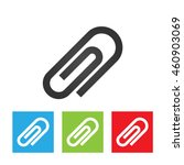 paperclip icon. simple logo of...