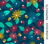 seamless pattern with doodles... | Shutterstock .eps vector #460904170