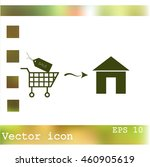 home delivery icon | Shutterstock .eps vector #460905619