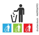 trash and man icon. simple logo ... | Shutterstock .eps vector #460906993