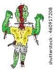 zombie vector illustration | Shutterstock .eps vector #460917208