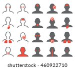 vector human illness icons... | Shutterstock .eps vector #460922710