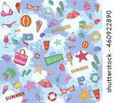 summer pattern on the... | Shutterstock .eps vector #460922890