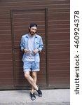stylish guy relaxing near... | Shutterstock . vector #460924378