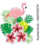 vector illustration of tropical ... | Shutterstock .eps vector #460925074