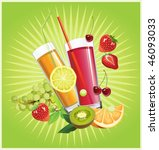 juice and fruits. all elements... | Shutterstock .eps vector #46093033