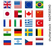 set of popular country flags.... | Shutterstock .eps vector #460930540