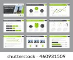 set of green and gray template... | Shutterstock .eps vector #460931509